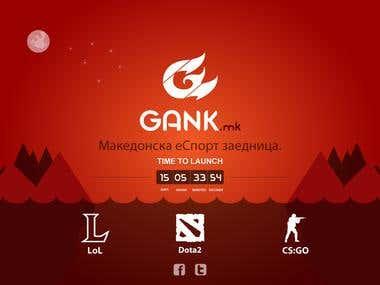 Gank Landing Page