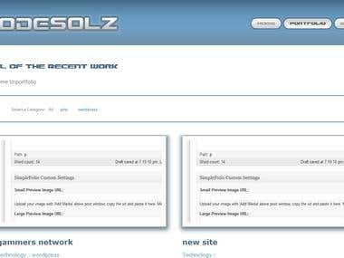 my portfolio site