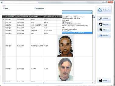 DATACARD AND PICTURE MANAGEMENT SOFTWARE