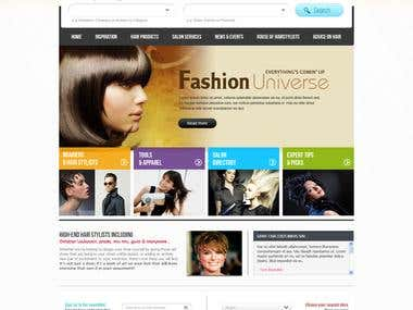 Hair Saloon Website