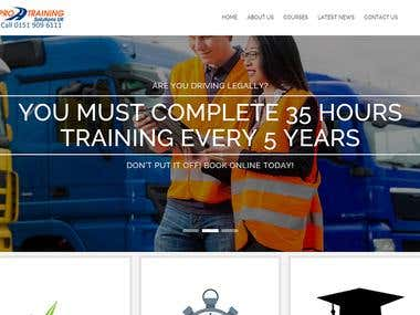 Website for Pro Training Solutions