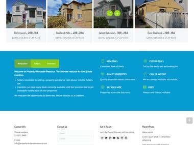 Property Whole Sale Resource Website Design And Development
