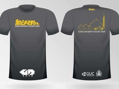 Tshirt design for racing team