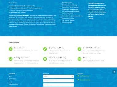 Enomik Group Website Design and Development