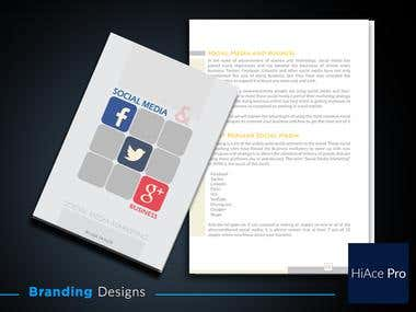 Document Branding. Title with layout design.