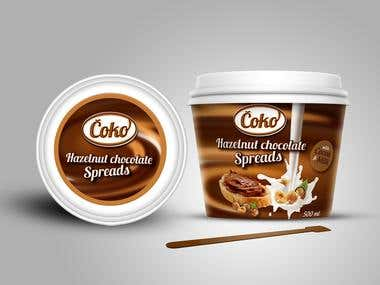 Chocolate Spread packaging design