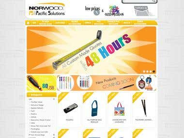 Promotional products - E-commerce Website