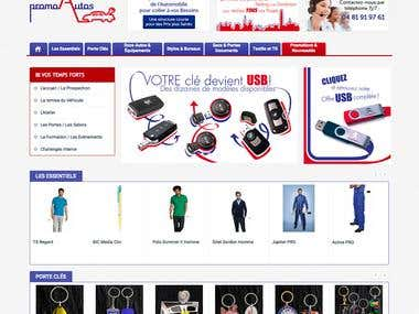 Promotional products - Ecommerce responsive website