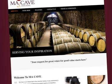 Independant French wine's importer - Website