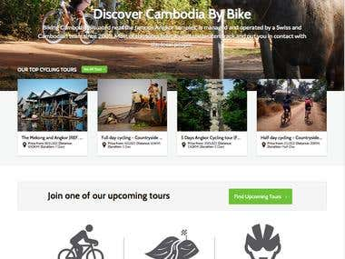 Bike tours operator - Wordpress responsive website