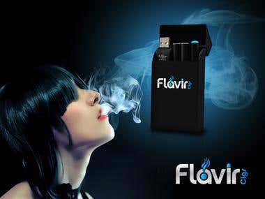 Flavir - Ecigs Logo & Campign design