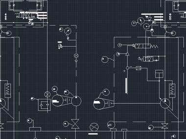 Autocad hydraulic schematics