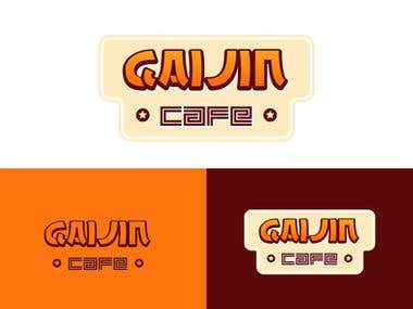 Gaijin (Japanese) Cafe logo design