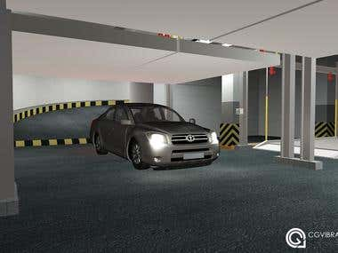 Parking systems 3d model