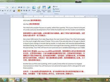 Translate English document into Mandarin