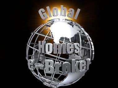 Global e-Broker 3D Logo and Animation