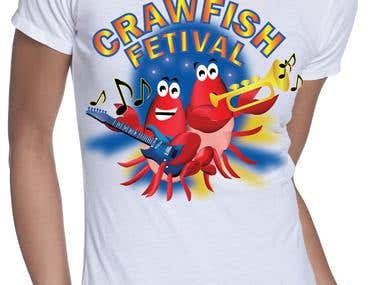 CrawFish Tshirt design