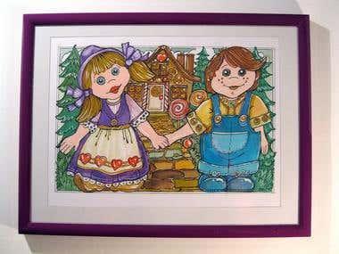 Fairytale Children's Book Illustrations  -  Hansel