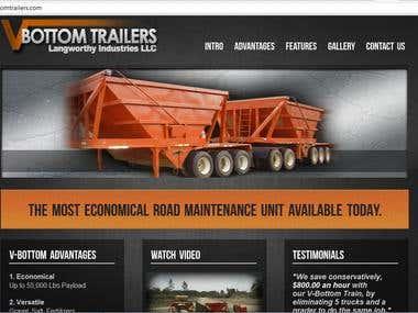 Website Design - Wordpress - VBottomTrailers.com