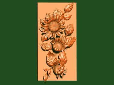 Sunflowers (pad on the door)