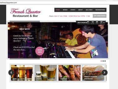 Website Design - Wordpress - Cozumel French Quarter