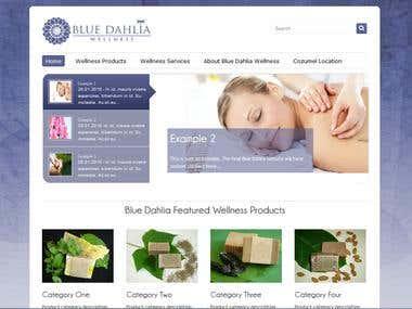Website Design - Wordpress - Blue Dahlia Wellness