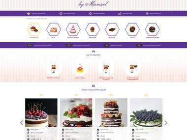 Web design. The bakey Mamzel