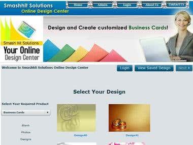 Web2Print - Card/calender/letterpad design