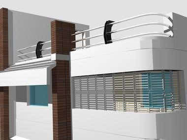 3D rendering Architectural Building design