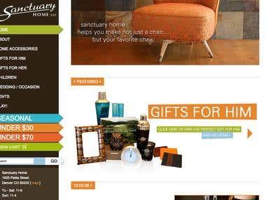 Sanctuary Home Website
