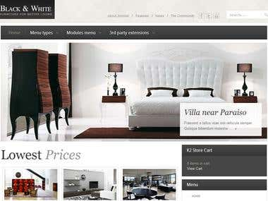 Real Estate Site: Black & White