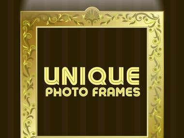 Unique Golden Photo Frames