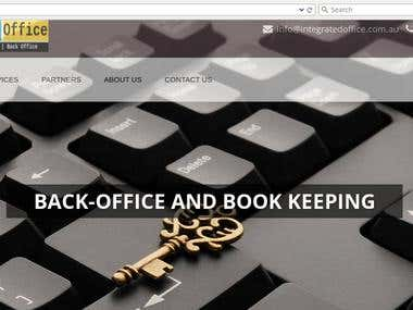 A Back-office Support and Book Keeping services firm website