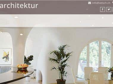 Website of a Swiss Architecture firm