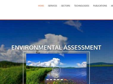 Website of an Environmental Consulting firm from Australia