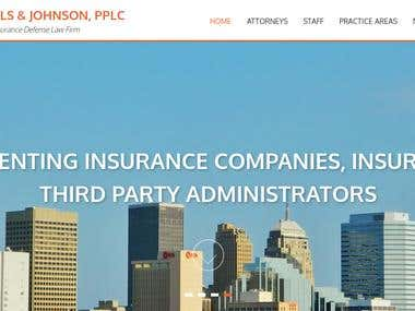 Turnkey website for an Insurance Defense Law Firm