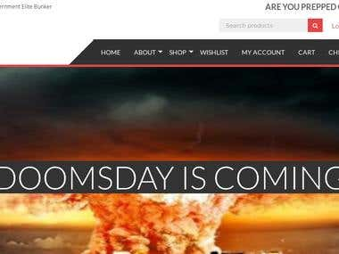 eCommerce portal for the Doomsday Prepping Culture