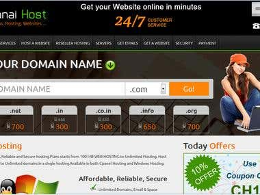 Get your Domain and Hosting