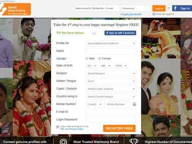 Tamil Matrimonial Website