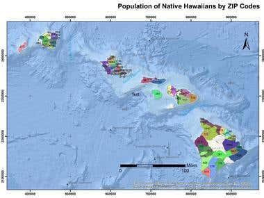 Population of National Hawaiians by ZIP Code