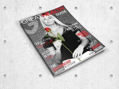 Cover and pages design for GreatHealthGuide (Australia)