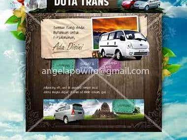 a travel website design
