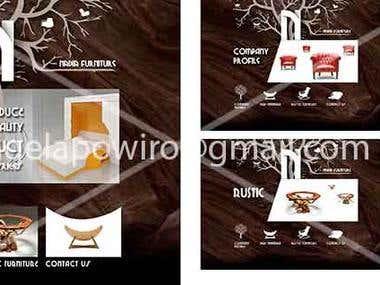 website design for furniture company