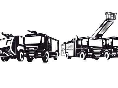 truck vectorial illustrations