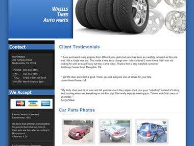 Auto parts site in wordpress
