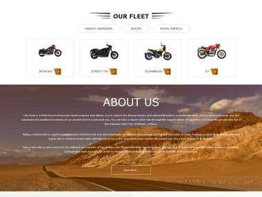 Bike Rental website with cart features