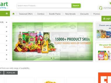 Online Supermarket in India...