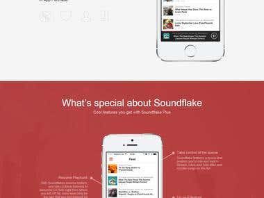 Soundflake App - Website Design