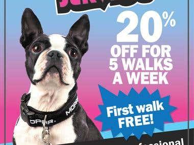 Flyer dog walking service