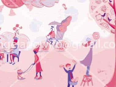 jesslyn cake wall illustration